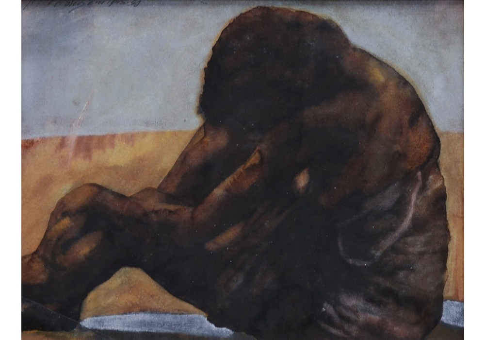 Jos Verdegem, Seated nude, 1945