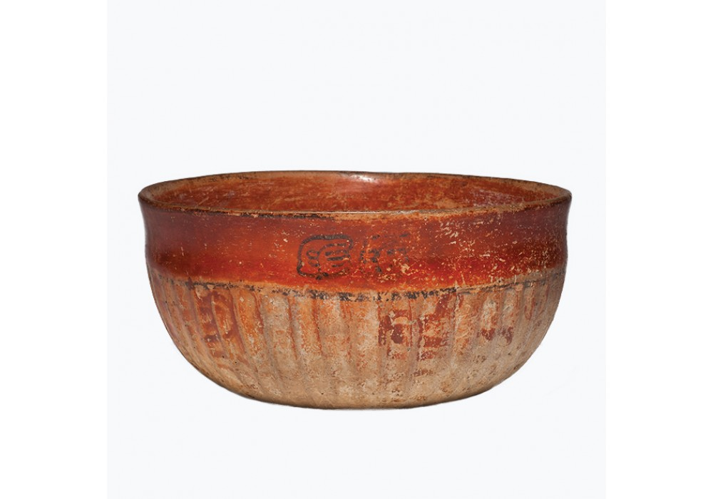 Maya Bowl with Fluted Ribs