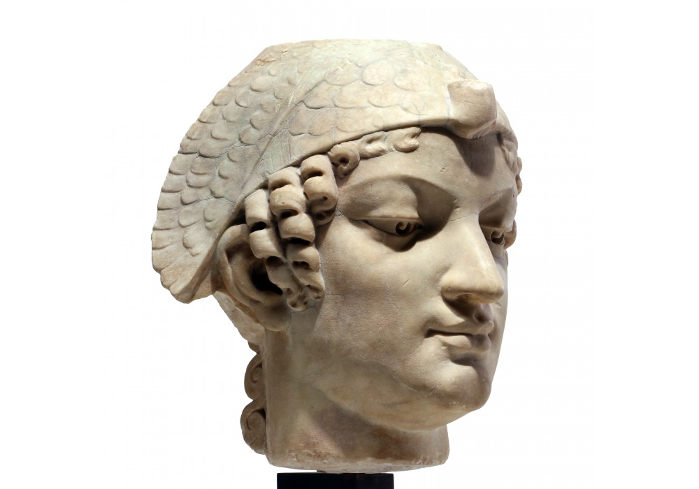 Neo-Egyptian marble head
