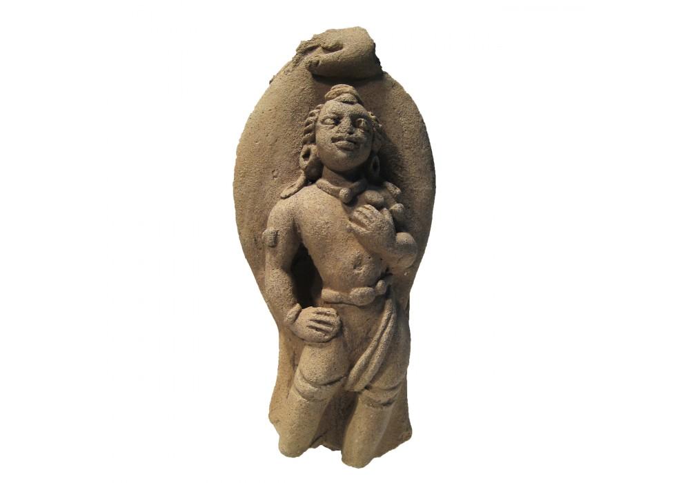 Gupta attendant Figure or Minor God in terracotta