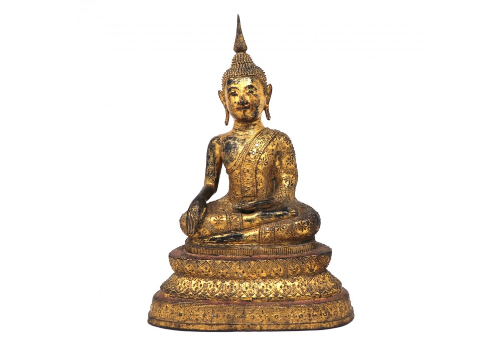 Thai Gilt Bronze Seated Buddha