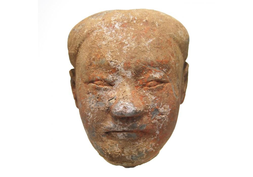 'Yangling' terracotta Head of a 'Stick-man'