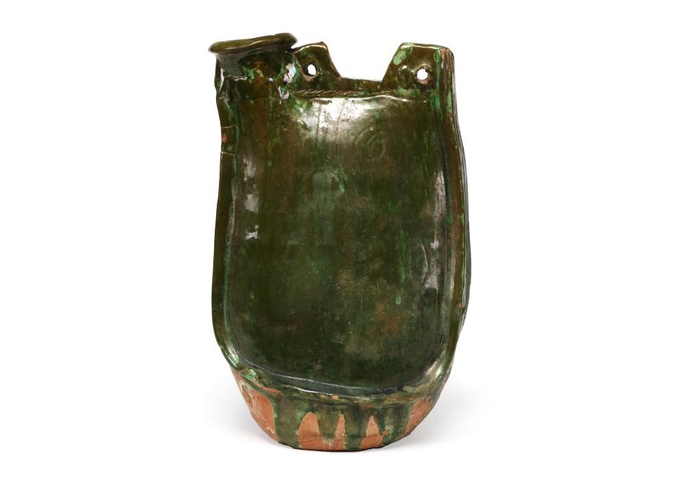 A Liao green glazed Flask