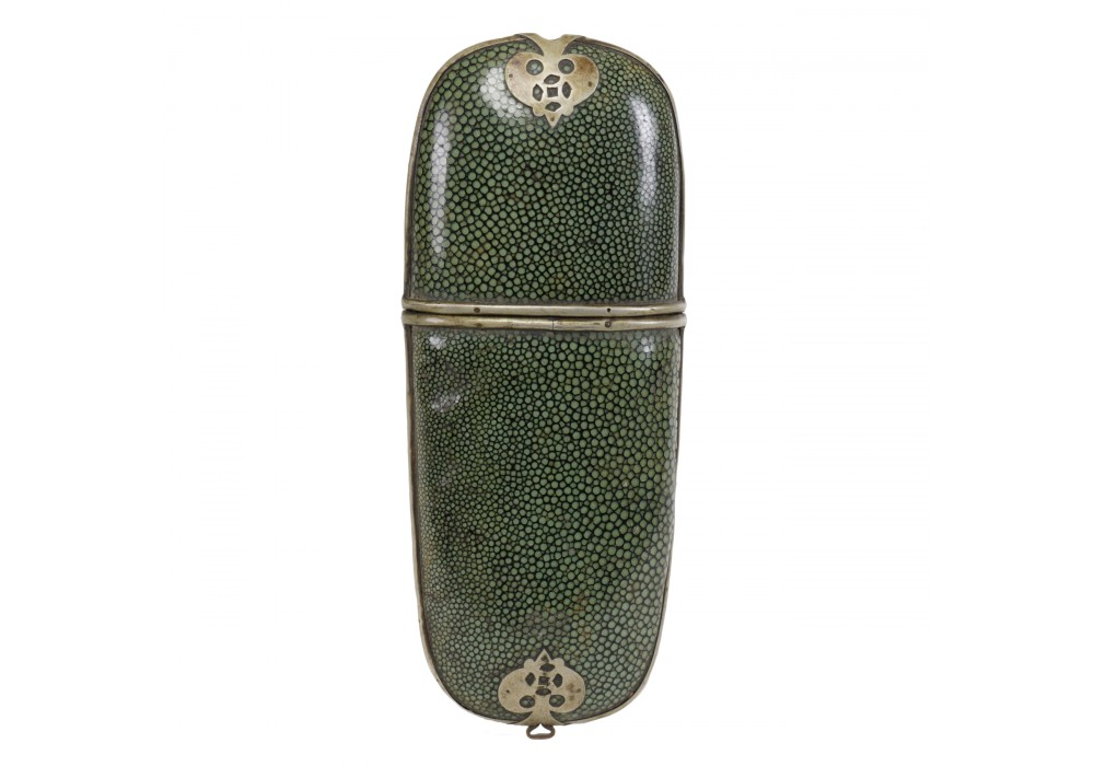Eyeglass Case in galuchat and brass