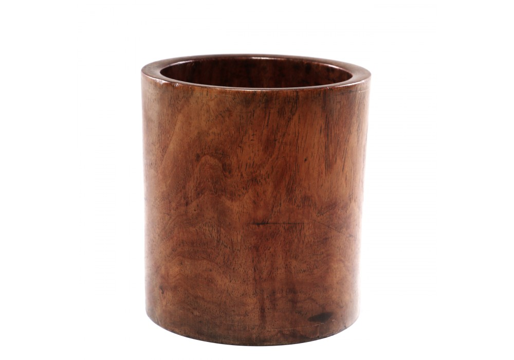Brushpot in Huanghuali wood