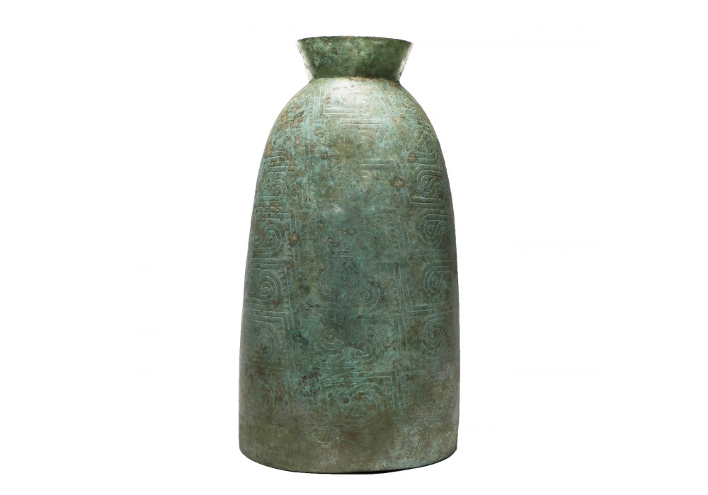 A bronze Bell with a recurrent 'double-eye' motif