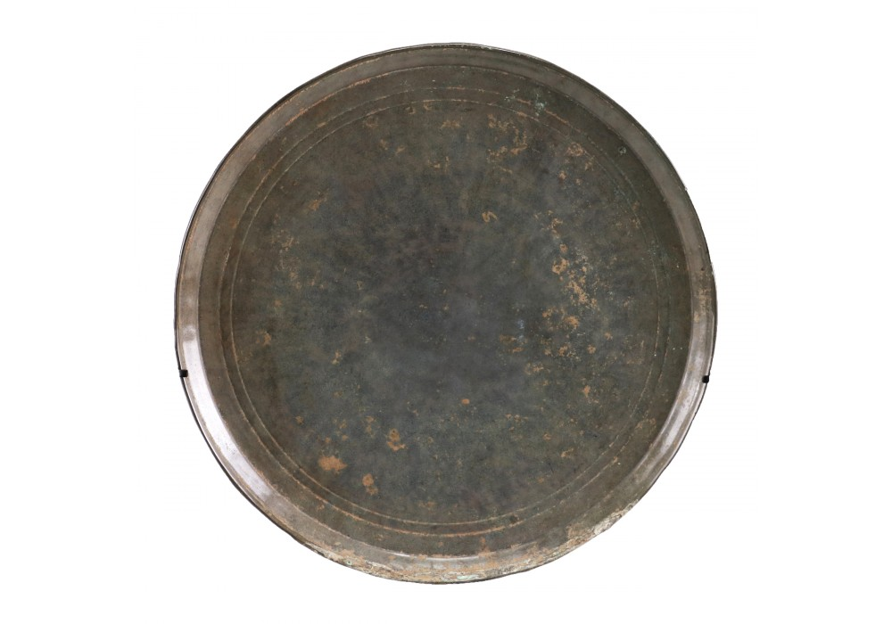 An extra large sized Khmer bronze Mirror