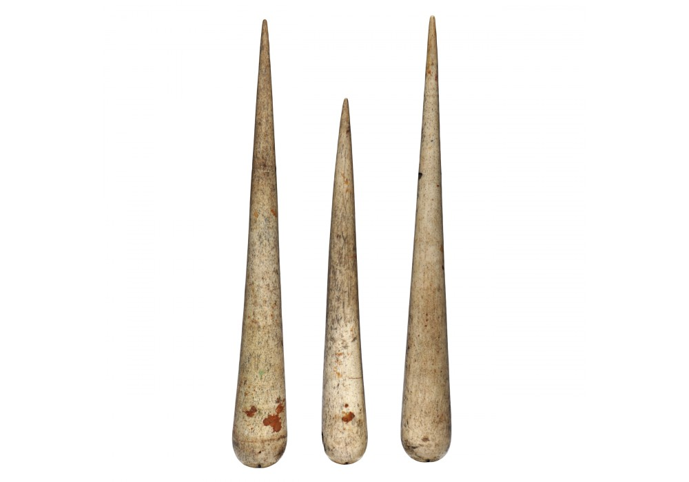 Set of 3 Sailors Carved Whalebone Fids