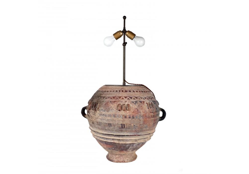 Bozo jar mounted as a Lamp