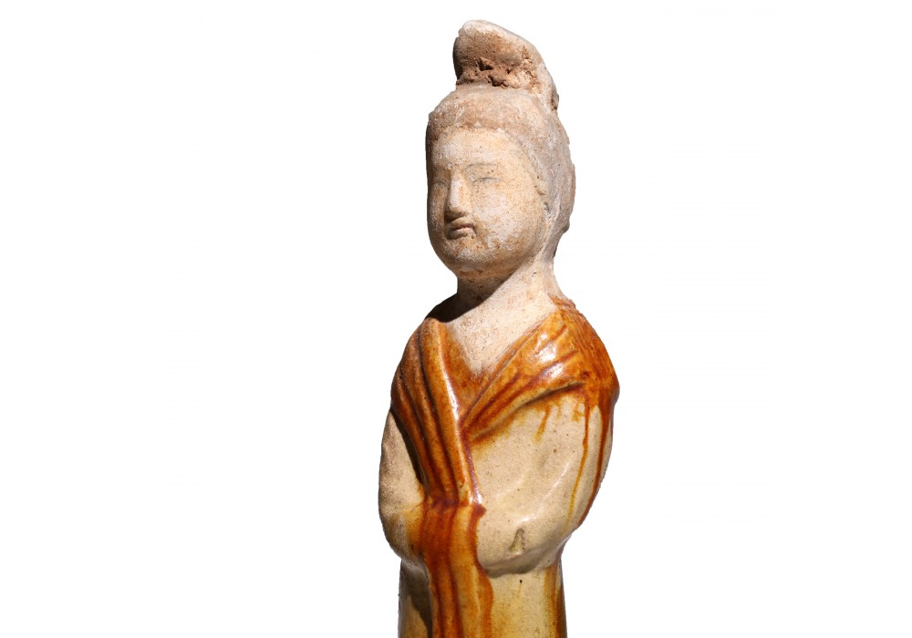 Tang Dynasty Pottery Figure of a Court Lady