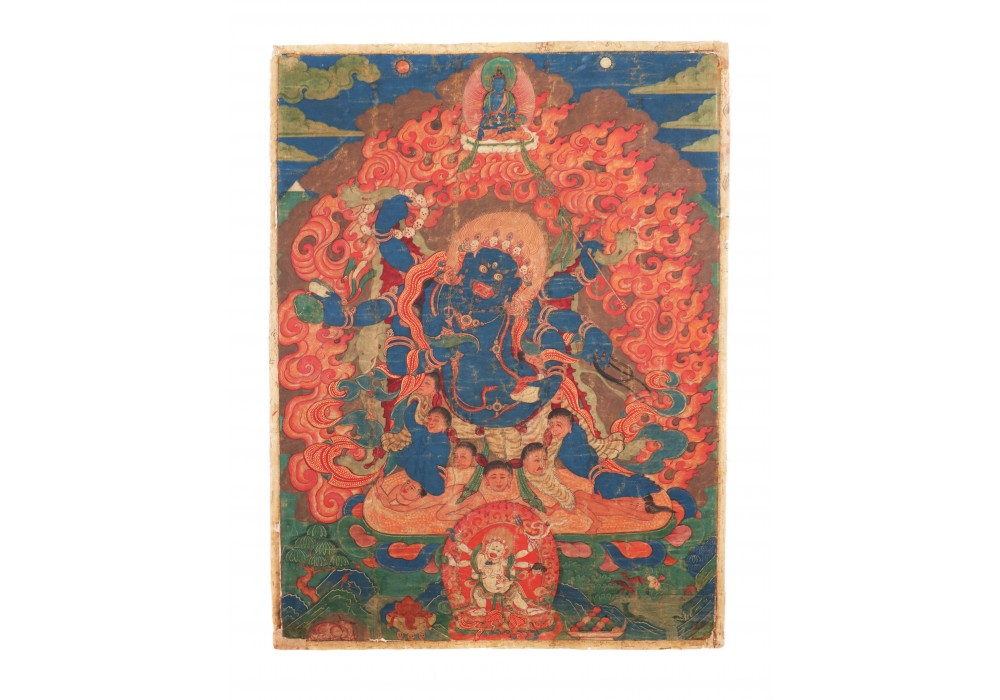 Tibetan painting depicting Mahakalla