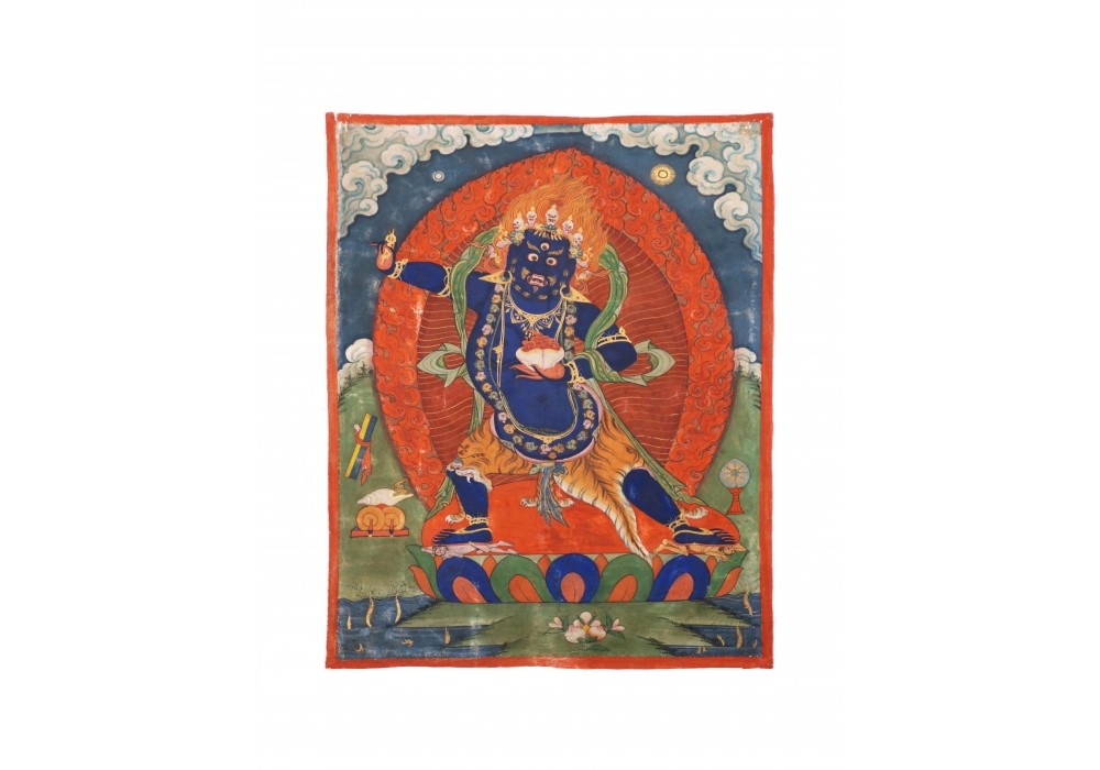 Tibetan painting depicting Vajrapani