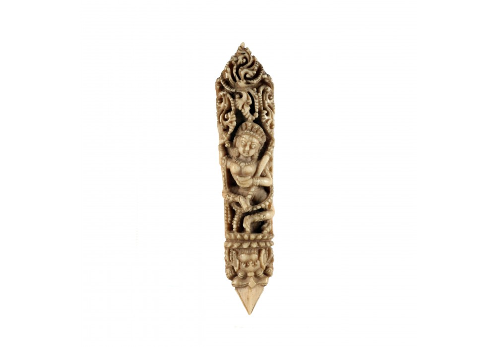 Tibetan ritual bone plaque