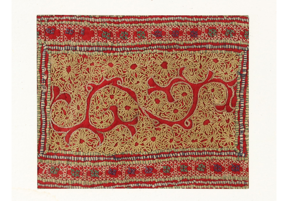 Chinese Miao embroidered textile