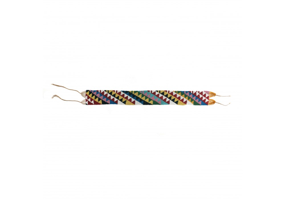Fulani ornament in knitted glass beads