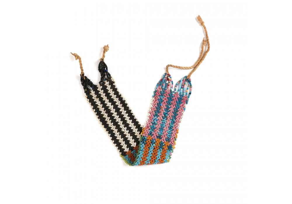 Multicolored beaded Fulani armband