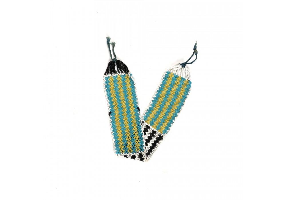 Multicolored beaded Fulani armband