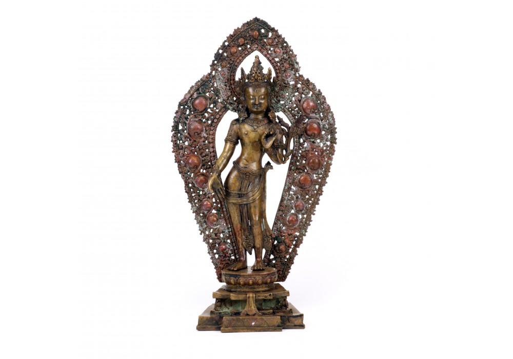 Nepalese Padmapani brass figure