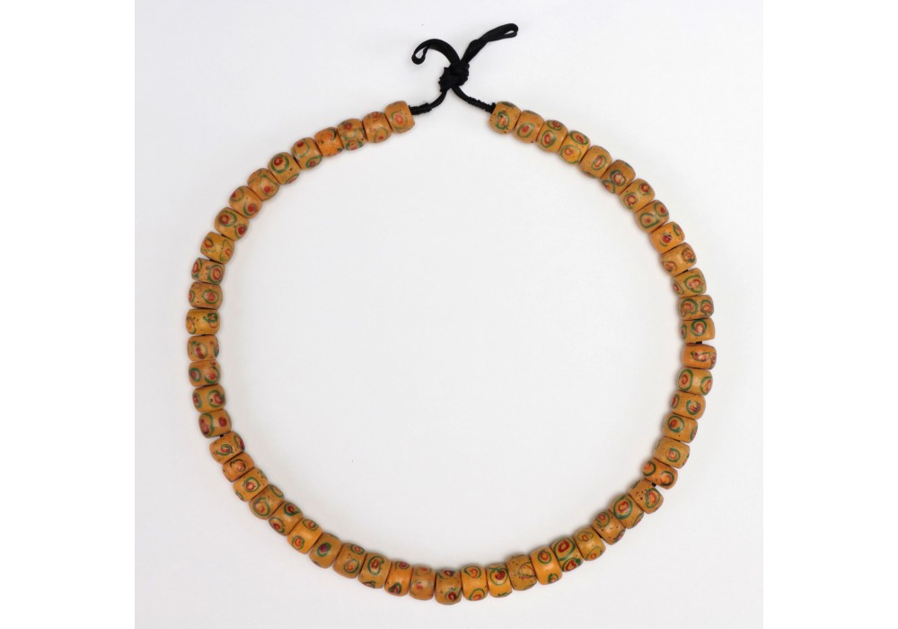 A Necklace in opaque yellow Venetian glass Beads