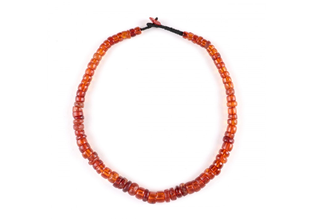 Tibetan Necklace in amber Prayer Beads