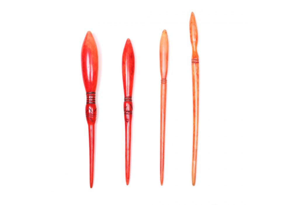 Set of 4 bone Hairpins - Chinese Minorities