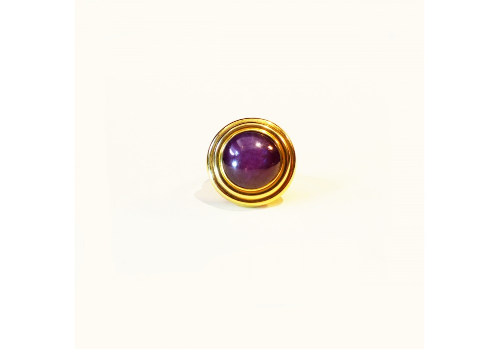 Starry Ruby Cabochon Ring