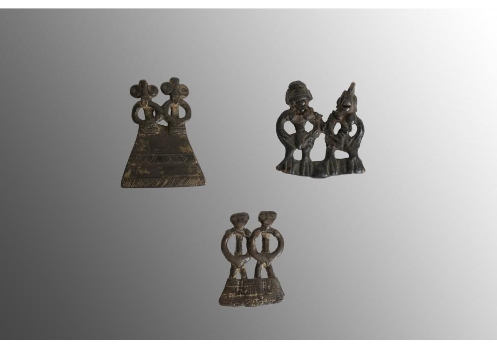 Lot de trois pendentifs Senoufo