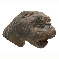 Gandharan Lion Head in schist