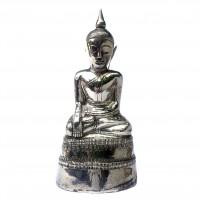 Burmese 19th century silver Buddha