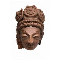 Hund clay head of possibly a Hindu Deity