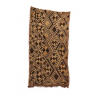 Set of seven cut-pile Shoowa textile with geometric patterns