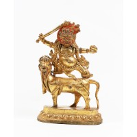 Tibetan gilt-bronze figure of Sri Devi