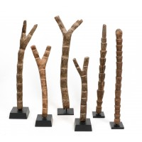 Lot of six Dogon votive ladders