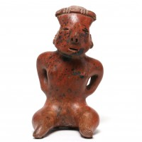 Nayarit seated figure with hands on hips