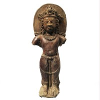 Gupta small standing figure of Vishnu in terracotta