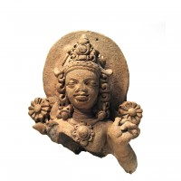 Terracotta bust of Surya, the Sun God