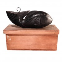 Japanese Mingei Carved Wooden Fish