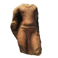 Gupta torso of Buddha in terracotta