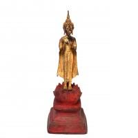 Thai Gilt Bronze Standing Buddha