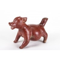 Beautiful Colima dog in terracotta