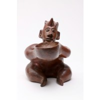 Colima seated figure holding a bowl