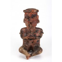 Large Nayarit seated figure