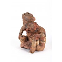 Nayarit figure in genuflexion