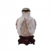 Antique Chinese Banded Agate Snuff Bottle