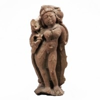 Indian Celestial Beauty (Surasundari) in sandstone