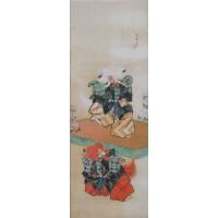 Kabuki Ningyo Scroll by Torii Kiyotada