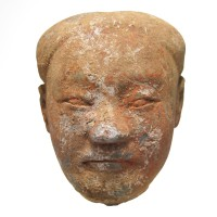 'Yangling' terracotta Head of a 'Stick-man'