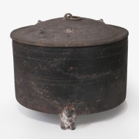 Han terracotta lidded 'Ding' Vessel