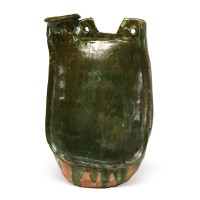 Liao green glazed Flask