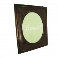 Wood Frame with an original oval shaped wood passe-partout